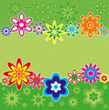 Background with flowers, vector Stock Image
