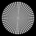 Background in form of white rays in the form of a circle on a black background.