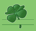 Background with four leaf clover Royalty Free Stock Photos