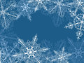 Background with fragile snowflakes abstract vector file is eps all elements are grouped Stock Photo
