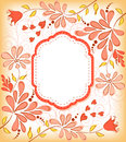 Background with frame and flowers vector illustration Stock Images
