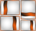 Background frame four frames in grey black and red colours Royalty Free Stock Photo