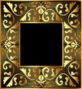 Background frame with gold(en) Stock Photo