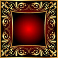 Background frame with vegetable gold(en) pattern Stock Photography