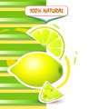 Background with fresh lemon Royalty Free Stock Photos