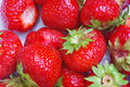 Background with fresh strawberries Royalty Free Stock Photos
