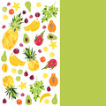 Background with fruit. Vector illustration.