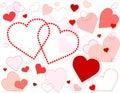 Background galore hearts Royaltyfria Foton