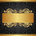 Background gold and black with ornaments Royalty Free Stock Photography