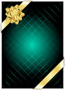 Background with gold bow Royalty Free Stock Photo