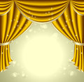 Background with gold drapes olive for presentation something Royalty Free Stock Image