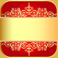 Background with gold ornaments and precious stones illustration Royalty Free Stock Photos