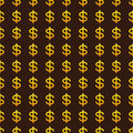 Background with golden dollar signs Royalty Free Stock Photo