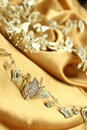 Background of golden fabric Royalty Free Stock Photos
