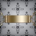 Background with Golden Motive Royalty Free Stock Images