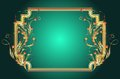Background golden ornament elegant frame Stock Image