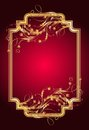 Background golden ornament elegant frame Stock Photo