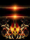 Background with golden ornament glowing star and Stock Images