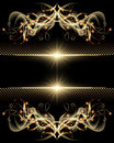 Background with golden ornament glowing star and Royalty Free Stock Photography