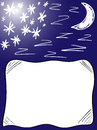 Background good night pillow with moon stars and some z from zzzzzzz Stock Images