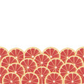 Background with grapefruit fruity seamless slices Royalty Free Stock Photo