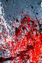 Background graphic image. dripping. expression. multicolored spill blemish. mixing colors. black white red. On the Royalty Free Stock Photo