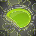 Background with green bubble Stock Images