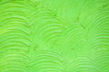 Background of the green cement wall is plaster curve rough Royalty Free Stock Photo