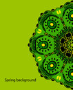 Background with green Mandala. Vector ornament, round decorative element for your design Royalty Free Stock Photo