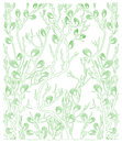 Background with green plants - spring - vector