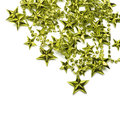 Background with green stars Royalty Free Stock Photo