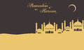 Background for greeting card Ramadan Kareem
