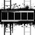 Background with Grunge Filmstrip Royalty Free Stock Image