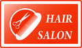 Background for hair salon sign red style Royalty Free Stock Images