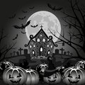 Background halloween pumpkin vector night landscape Royalty Free Stock Images