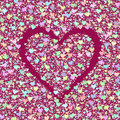 Background with hearts cherry beautiful can be used as for design Stock Photo
