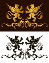 Background heraldry decoration vector illustration Stock Image