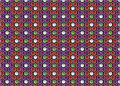 Background of hexagons and cubes formed with purple red green white Stock Images