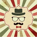 Background with hipster s hat glasses moustache seamless Stock Photos