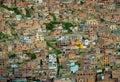 Background of houses, La Paz, Bolivia Stock Images