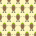 Background with hugging acorns