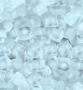 Background with ice cubes blue light Royalty Free Stock Photo