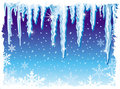 Background with icicle Stock Image