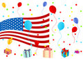 Background illustration of celebrating 4th July Royalty Free Stock Photo