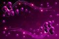 Background illustration of purple valentine hearts Stock Photos