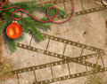 Background image with Christmas tree Royalty Free Stock Images