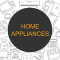 Background with the image of home appliances. Banner for your company or shop with space for text. Royalty Free Stock Photo