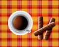 Background including Cup of tea Royalty Free Stock Photos