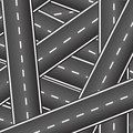 Background of the intersecting roads.