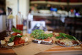 Background in the italian cafes blurred Royalty Free Stock Images